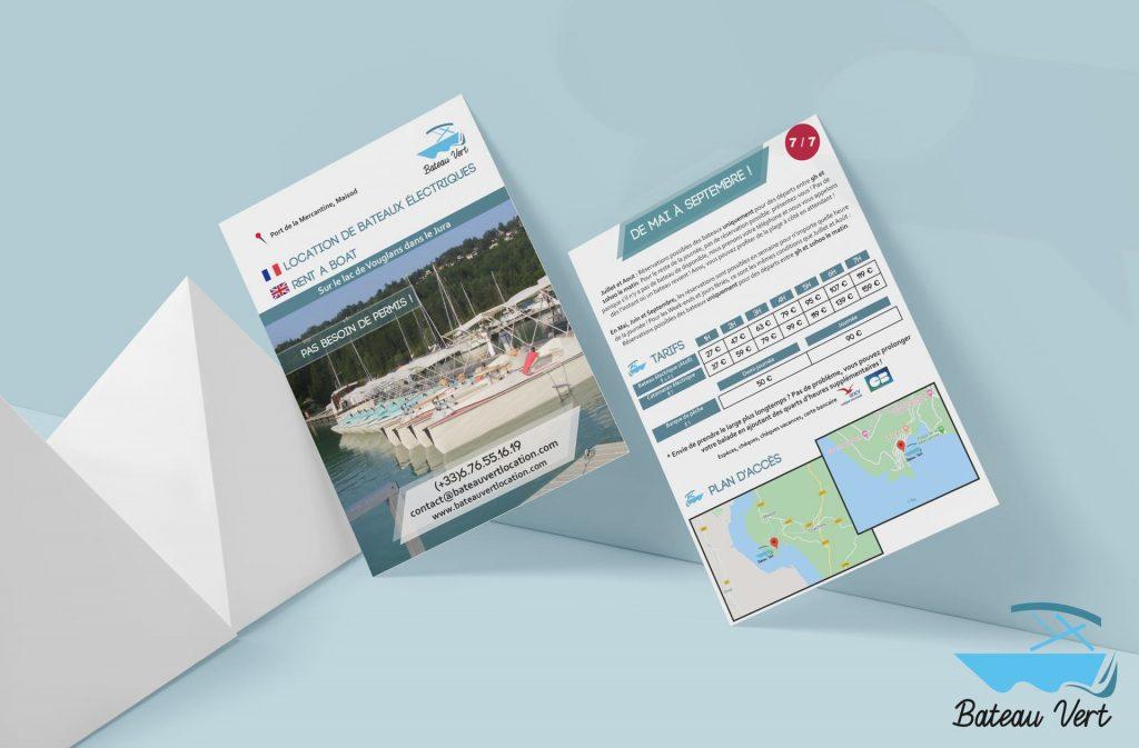 flyer-bateau vert location - accompagnement à la création d'entreprise